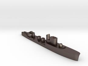 Italian Libra torpedo boat 1:3000 WW2 in Polished Bronzed-Silver Steel