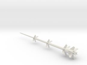 1/72 Scale RHEINBOTE Missile in White Natural Versatile Plastic