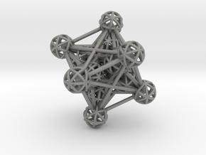 3D Metatron's Cube in Gray PA12