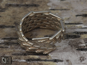 Ring - Clone in Polished Bronzed Silver Steel