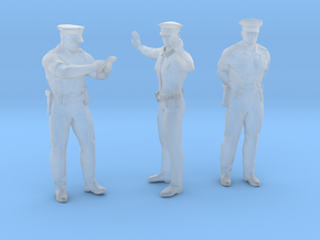 Police Officer Traffic Control Set in Smoothest Fine Detail Plastic: 1:64 - S