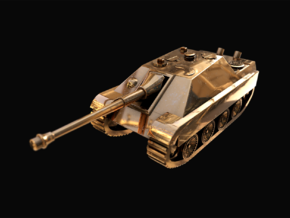 Tank - Jagdpanther - size Small in 14k Gold Plated Brass