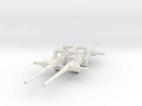 Moray Machine Gun x4 (Complete Set) in White Natural Versatile Plastic