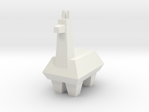Llama in White Natural Versatile Plastic