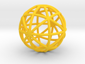 torus_pearl_type8_ultrathin in Yellow Processed Versatile Plastic