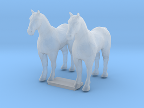 S Scale Draft Horses in Smooth Fine Detail Plastic