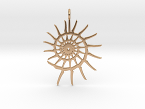 Spiral Pendant in Polished Bronze