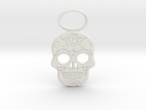 Sugar Skull #1 in White Natural Versatile Plastic