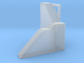 Glacier Town (Right Side) Stairs in Smooth Fine Detail Plastic
