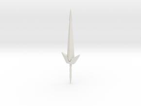 Dinoking Sword in White Natural Versatile Plastic