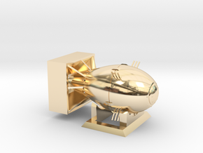 Fat Man Large (Including Display Stand) in 14K Gold