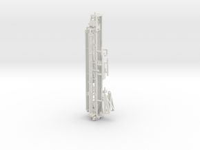 1/64th Well Drill Tower in White Natural Versatile Plastic