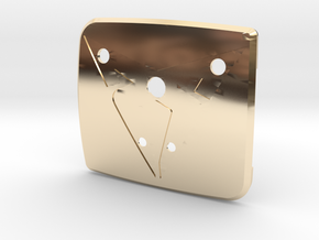 """Pre-Facelift Cupra Front """"S"""" Badge - Back Part in 14K Yellow Gold"""
