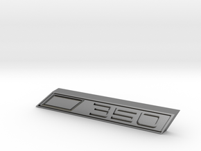 Cupra 350 Text Badge in Natural Silver
