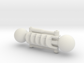 Specialised Lower arm for Bionicle in White Natural Versatile Plastic