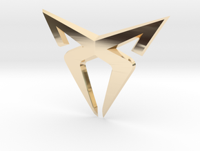 """Facelift Cupra Front """"S"""" Badge - Front Part in 14K Yellow Gold"""