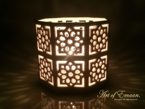 Tall Islamic Star Knot Lantern in Sandstone