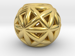 torus_pearl_type4_thick in Polished Brass: Small