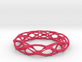 Bracelet Popular in Pink Processed Versatile Plastic: Medium