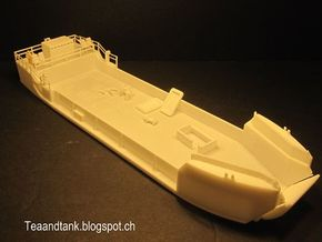 1/144 Landing Craft Tank LCT US Navy Royal Navy in White Natural Versatile Plastic