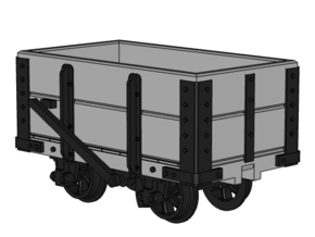 WHR / NWNGR 2 Plank Wagon 5.5mm in Smooth Fine Detail Plastic