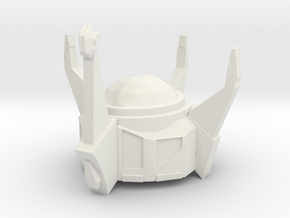 Siege Starscream Crown in White Natural Versatile Plastic