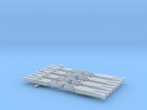 NEM OO Type 1 Couplings - Strait 3 Link x4 in Smooth Fine Detail Plastic