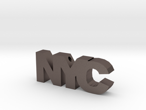NYC in Polished Bronzed Silver Steel