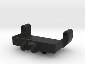 Axial SCX24 Servo mount for Savox SH-0257mg in Black Natural Versatile Plastic