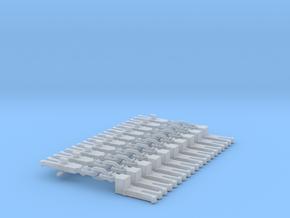 NEM OO Type 12 Couplings - Adaptor 3 Link x10 in Smooth Fine Detail Plastic