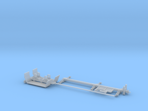 40 Foot Collapsed Utility Pole Trailer 1-64 Scale  in Smooth Fine Detail Plastic