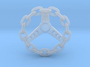 1:12 Chain Steering Wheel  in Smoothest Fine Detail Plastic