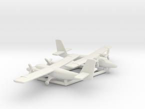 de Havilland Canada DHC-6 Twin Otter in White Natural Versatile Plastic: 1:350
