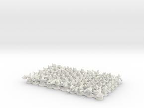 Concordant Warrior Platoon in White Natural Versatile Plastic