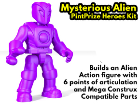 Mysterious Alien PPH Kit  in White Natural Versatile Plastic: Medium