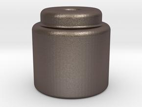 vape core steel bead smol in Polished Bronzed-Silver Steel