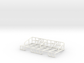 Double Deck Tray in White Strong & Flexible Polished