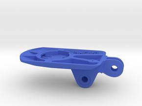 Wahoo Elemnt Roam GoPro BMC Mount - Short in Blue Processed Versatile Plastic