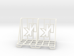 Double Mini Card Stand in White Processed Versatile Plastic