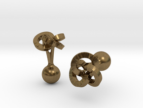 Trefoil Cufflinks in Natural Bronze