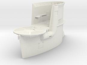 1/32 DKM Uboot VIIB Conning Tower in White Natural Versatile Plastic
