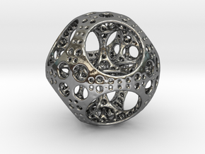 Apollonian Octahedron Mini in Polished Silver