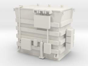 'HO Scale' - Transformer - 11' high in White Natural Versatile Plastic