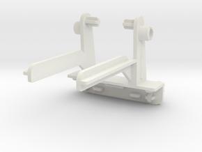 Warbotron Weapon Mount--Back--Rev2 in White Natural Versatile Plastic