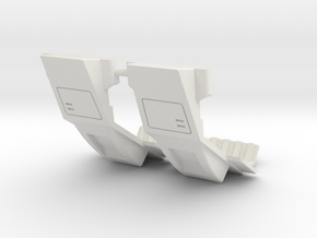 Warbotron Foot Extensions--Rev2 in White Natural Versatile Plastic
