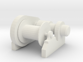 1/48 Scale  Electric Winch in White Natural Versatile Plastic