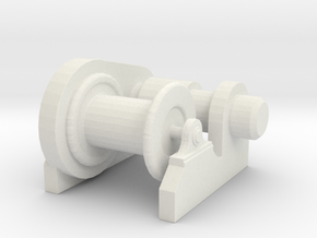 1/128 Scale  Electric Winch in White Natural Versatile Plastic