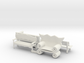 HO Scale Benches in White Natural Versatile Plastic