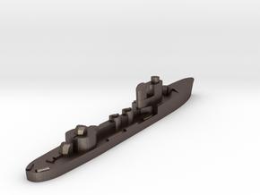 Italian Sagittario torpedo boat 1:2400 WW2 in Polished Bronzed-Silver Steel