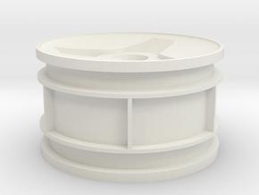 Modern Hex 2.2 Rear Wheel (x1), Tamiya Thundershot in White Natural Versatile Plastic